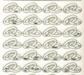 Micro-Glittersticker-Eheringe-transparent/gold-108gtrg
