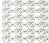 Micro-Glittersticker-Eheringe-transparent/silber-108gtrs