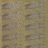 Zier-Sticker-Bogen-Mit besten Wünschen -gold-1093g