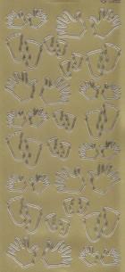 Zier-Sticker-Bogen-1098g-Hände und Füße - gold