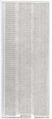 Zier-Sticker-Bogen-1104wg-feine-Ränder-weiß/gold