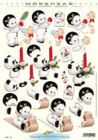 3D Etappen-Bogen-Morehead 124-Weihnachten-Pierrot-Panda