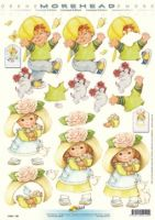 3D Etappen-Bogen-Morehead 129-Blumenkind-fröhlicher Junge