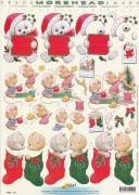 3D Etappen-Bogen-Morehead 144-Weihnachten/Mäuschen, Katzen und Bär