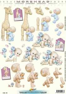 3D Etappen-Bogen-Morehead 163-Baby mit Giraffe