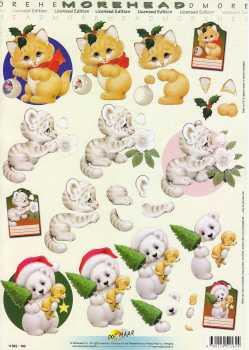 3D Etappen-Bogen-Morehead 182-weihnachtliche Tierkinder