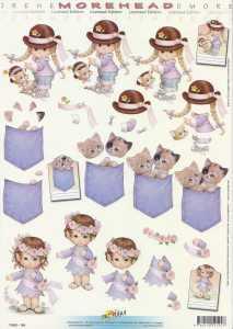 3D Etappen-Bogen-Morehead 194-Blumenmädchen - Kätzchen