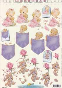 3D Etappen-Bogen-Morehead 197-Kätzchen mit Rose