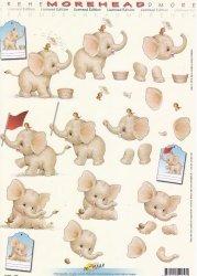 3D Etappen-Bogen-Morehead 157-Elefanten