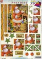 3D Pyramiden Stanzbogen-Der Nikolaus ist da-A5-6022