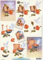 3D Etappen-Bogen-kirchliches-Motiv-Taube/Bibel/Abendmahl-11055-227