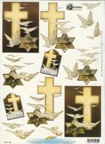 3D Etappen-Bogen-Trauer/Kondolenz-Kreuz-11055-230