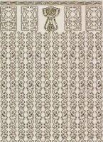 Zier-Sticker-Bogen-1121trg-Asiatische Ränder-transparent/gold-