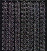 Zier-Sticker-Bogen-1131schw -Ränder/Bordüren-Blüten-schwarz