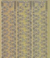Zier-Sticker-Bogen-1135g-Ränder-gold