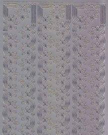 Zier-Sticker-Bogen-Ränder-silber-1135s