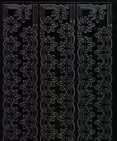 Zier-Sticker-Bogen-Ränder-schwarz-1135schw