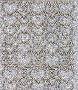 Micro-Glittersticker-Herzen in verschiedenen Größen-silber/gold-1139gsg