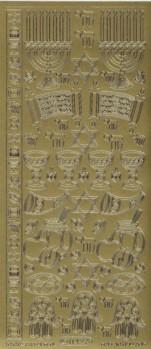 Zier-Sticker-Bogen-1142g-Jüdische Motive