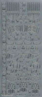 Zier-Sticker-Bogen-Jüdische Motive - 1142s