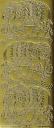 Zier-Sticker-Bogen-Elefanten-gold-1154g