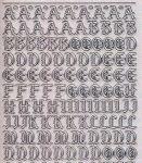 Micro-Glittersticker-Alphabet-ABC-Gothic 2-transparent-silber-1155gtrs