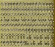 Zier-Sticker-Bogen-1156g-Alphabet-abc-Gothic 2-gold