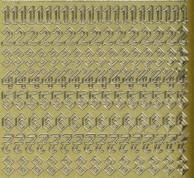 Zier-Sticker-Bogen-Zahlen-Gothic 2-gold-1157g