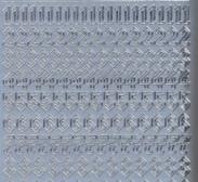 Zier-Sticker-Bogen-Zahlen-Gothic 2-silber-1157s