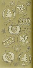 Zier-Sticker-Bogen-Kugeln-matt/glänzend-gold-W1184g