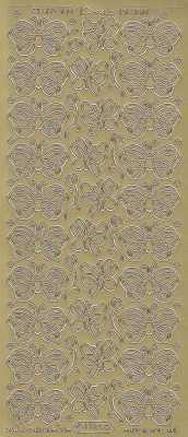 Zier-Sticker-Bogen-1188g-Schmetterlinge
