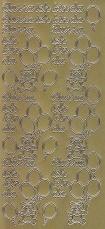 Zier-Sticker-Bogen-Hurra ich bin da-gold-1191g