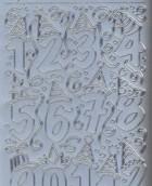 Zier-Sticker-Bogen-Lustige Geburtstags- Zahlen-silber-1203s