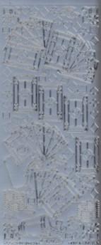Zier-Sticker-Bogen-Karten-Skat-Herz/Pik/Karo/Kreuz-silber-1205s