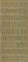 Zier-Sticker-Bogen-Großbuchstaben-ABC -gold-1206g