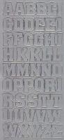 Zier-Sticker-Bogen-Großbuchstaben-ABC -silber-1206s
