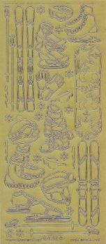 Zier-Sticker-Bogen-Wintersport-Motive-gold-1212g