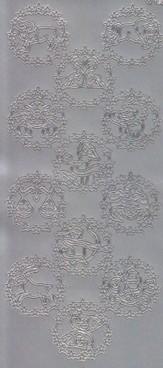 Zier-Sticker-Bogen-12 Sternzeichen -silber-1221s