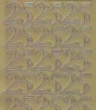 Zier-Sticker-Bogen-Jubiläums-Zahlen 25-gold-1229g