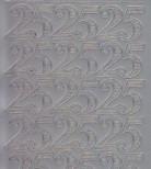 Zier-Sticker-Bogen-Jubiläums-Zahlen 25-silber-1229s