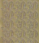 Zier-Sticker-Bogen-Jubiläums-Zahlen 30-gold-1230g