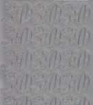 Zier-Sticker-Bogen-Jubiläums-Zahlen 30-silber-1230s