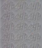 Zier-Sticker-Bogen-1231s-Jubiläums-Zahlen 40-silber