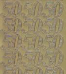 Zier-Sticker-Bogen-Jubiläums-Zahlen 50-gold-1232g