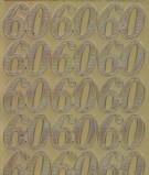 Zier-Sticker-Bogen-Jubiläums-Zahlen 60-gold-1233g