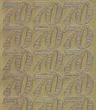 Zier-Sticker-Bogen-Jubiläums-Zahlen 70-gold-1235g