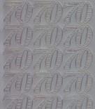 Zier-Sticker-Bogen-Jubiläums-Zahlen 70-silber-1235s