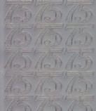 Zier-Sticker-Bogen-Jubiläums-Zahlen 75-silber-1236s
