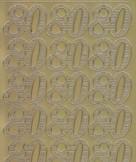 Zier-Sticker-Bogen-Jubiläums-Zahlen 80-gold-1237g