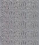Zier-Sticker-Bogen-1237s-Jubiläums-Zahlen 80-silber